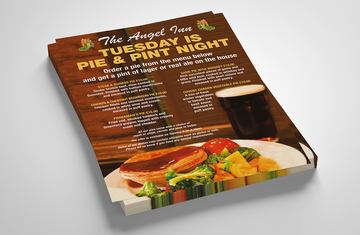 angel inn leaflet